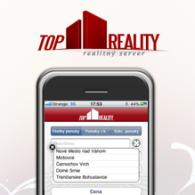 TopReality.sk - stránka po príchode z iPhona